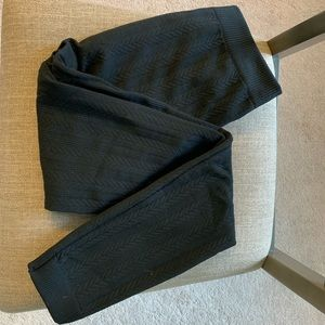 Black leggings with fleece lining